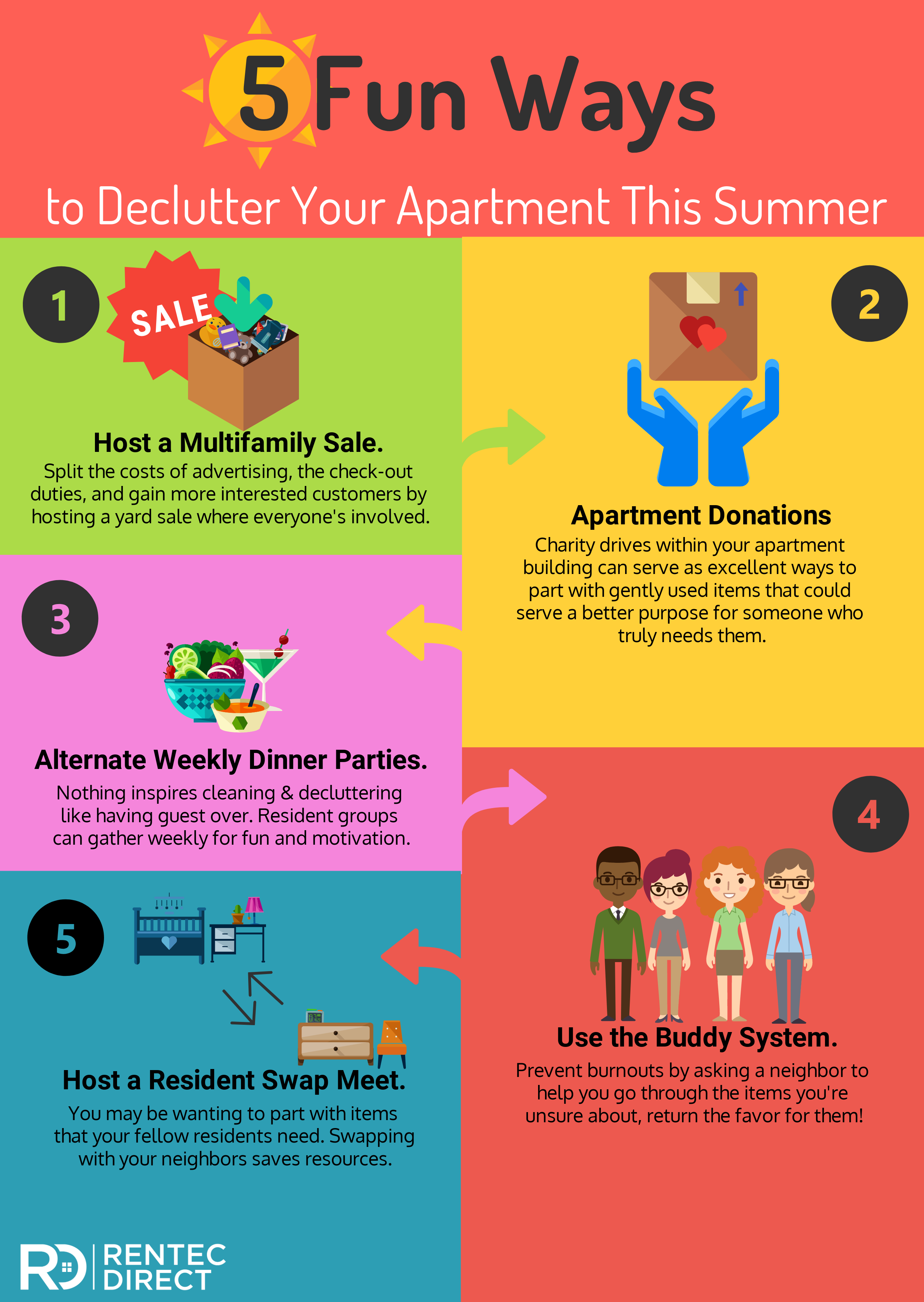 declutter your apartment
