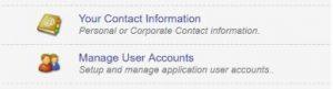 Manage User Accounts Tab