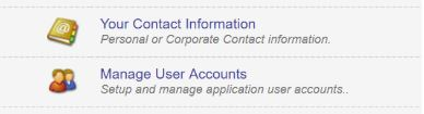 Manage User Accounts Tab