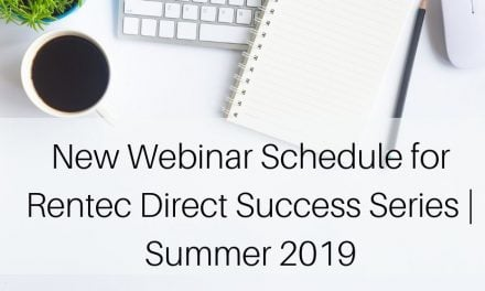 Webinar Schedule for Rentec Direct Success Series | Summer 2019