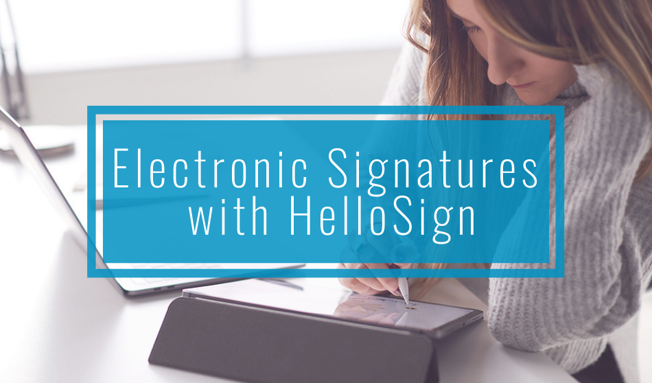Electronic Signatures with HelloSign