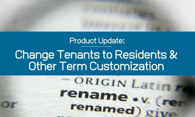 Change Tenants to Residents and Other Term Customization