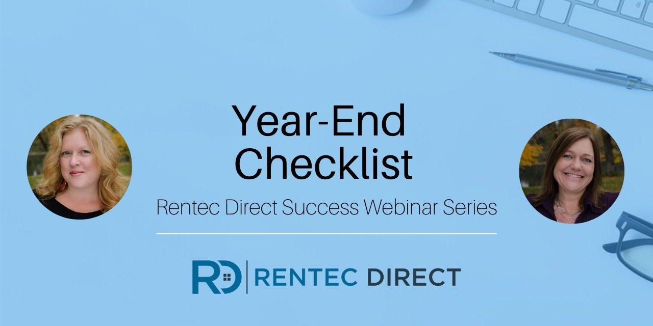 Webinar Recap: Year-End Checklist