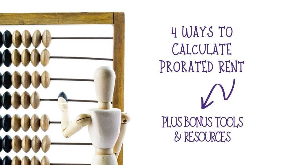 4 Ways to Calculate Prorated Rent