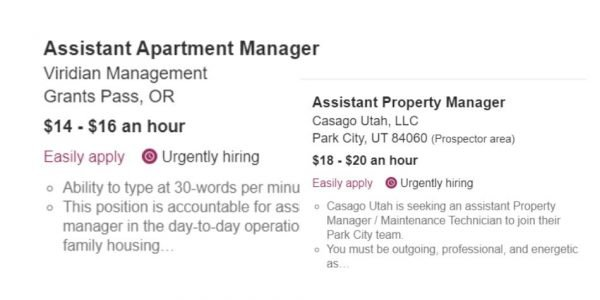 Assistant Property Manager Positions