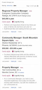 Indeed Property Manager Job Postings