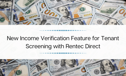 New Income Verification Feature for Tenant Screening with Rentec Direct