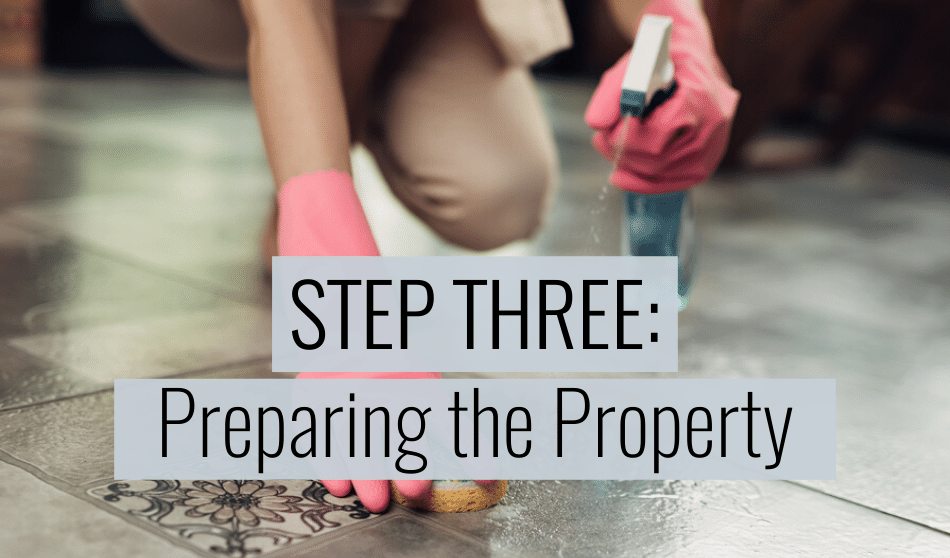 preparing the rental property