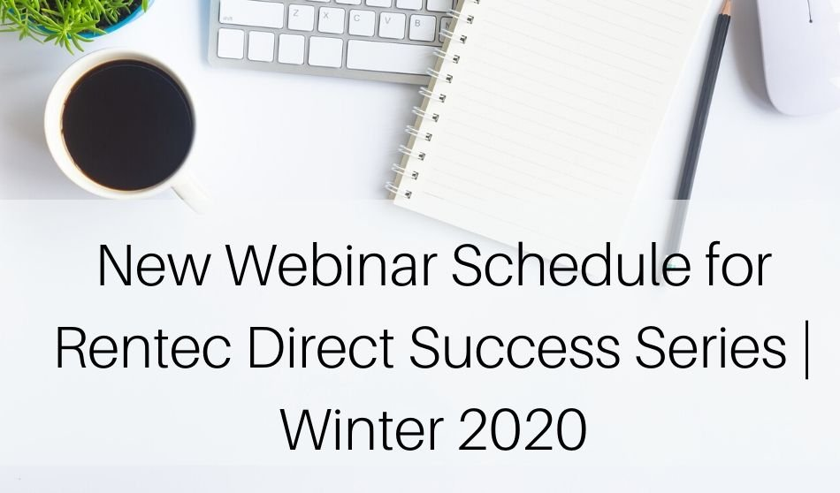 Webinar Schedule for Rentec Direct Success Series | Winter 2020