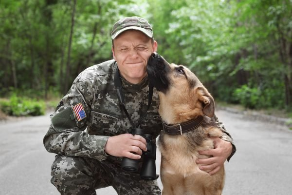 Emotional support animal for military with PTSD