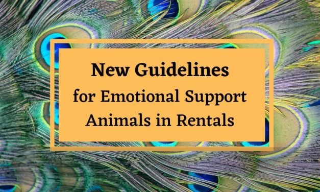 New HUD Guidelines for an Emotional Support Animal