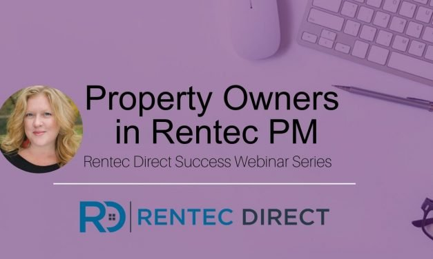 Webinar Recap: Property Owners in Rentec PM