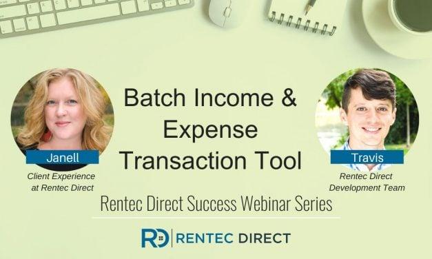 Webinar Recap: Batch Income and Expense Transaction Tool