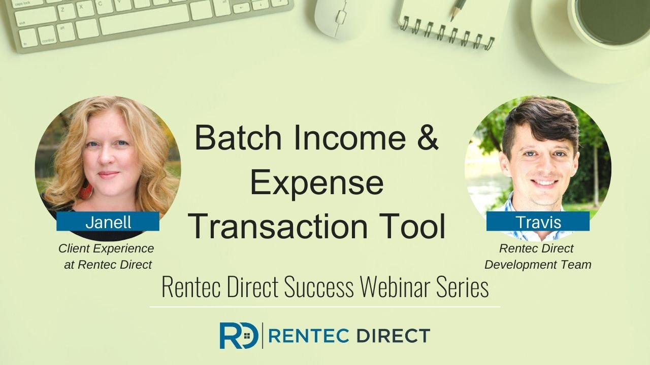 batch income and expense tool