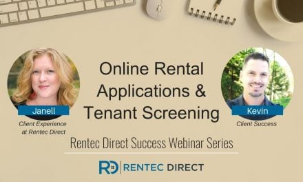 Webinar Recap: Online Rental Application and Tenant Screening