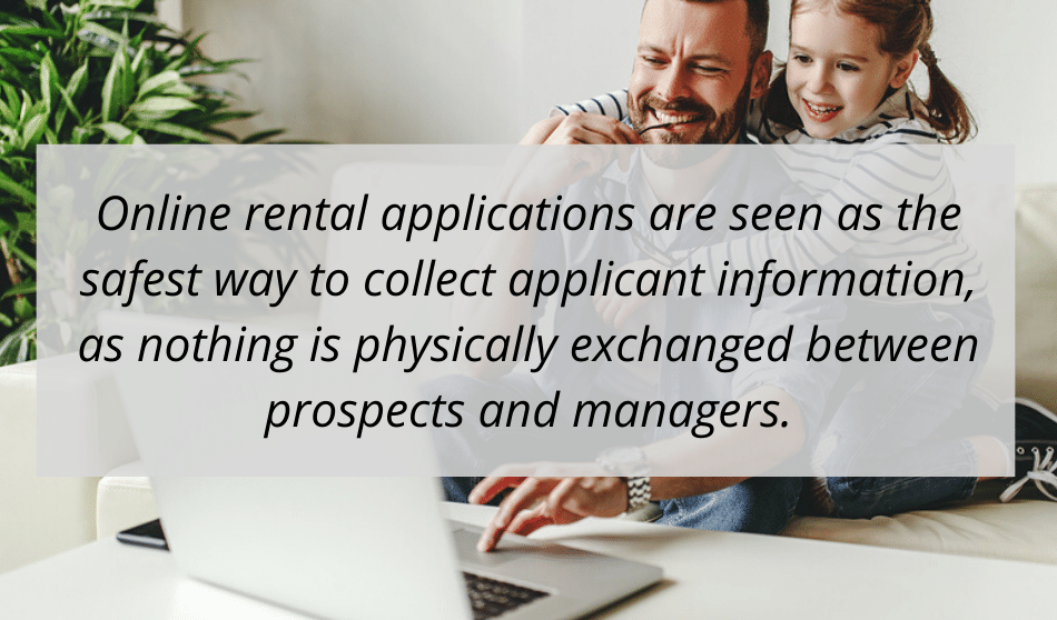 online rental application benefits