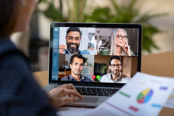 Video chat conferencing while social distancing