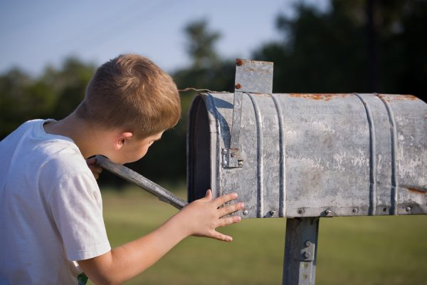 Tenant said the check is in the Mail Empty Mail box waiting for the check to arrive