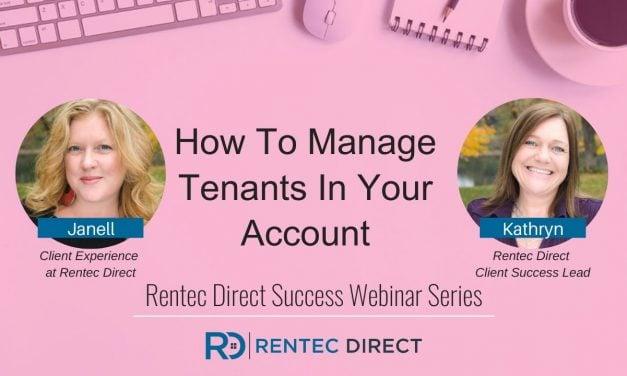 Webinar Recap: How To Manage Tenants In Your Account