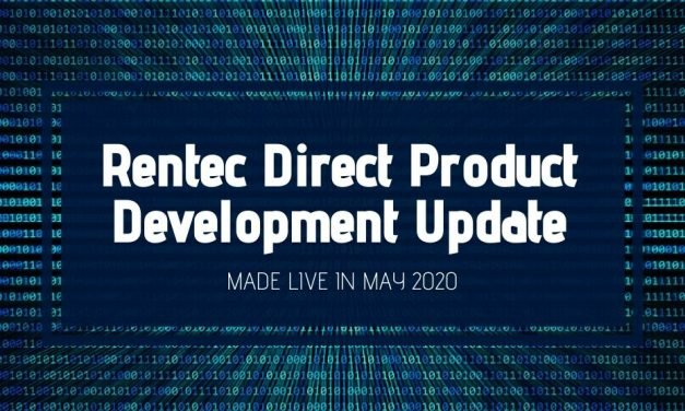 Rentec Direct Product Development Update: Made Live in May 2020