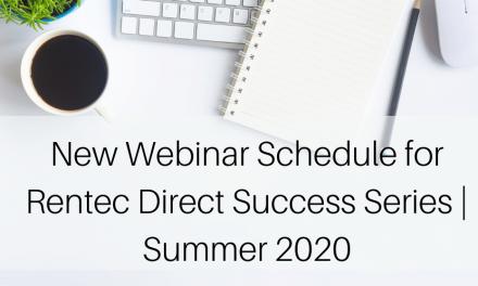 New Webinar Schedule for Rentec Direct Success Series | Summer 2020