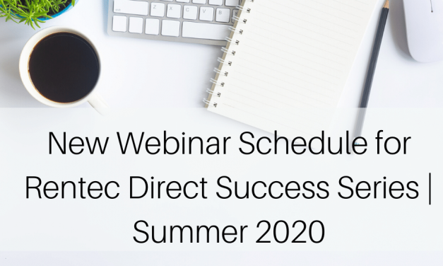 New Webinar Schedule for Rentec Direct Success Series | Summer 2020