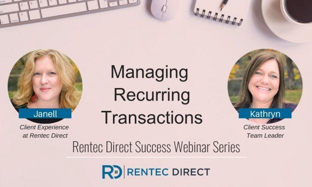 Webinar Recap: Managing Recurring Transactions