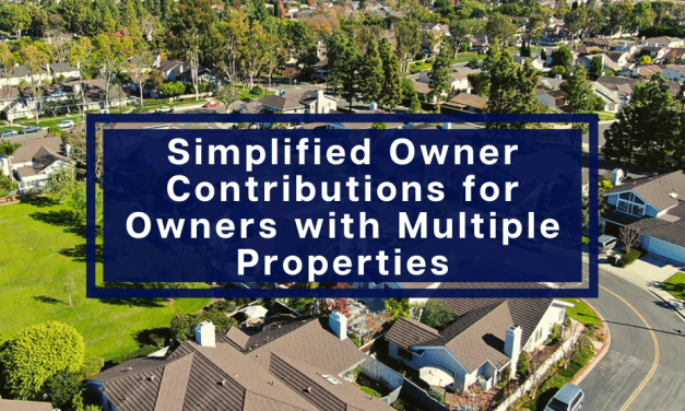Simplified Owner Contributions for Owners with Multiple Properties
