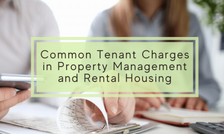 Common Tenant Charges in Property Management and Rental Housing