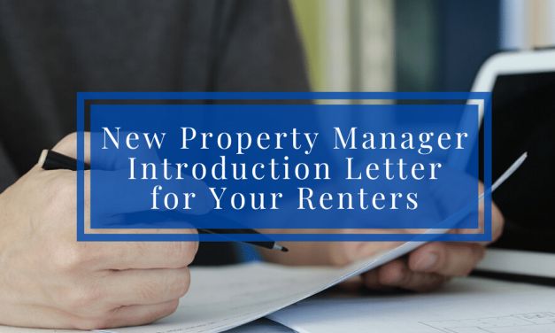 New Property Manager Introduction Letter for Your Renters