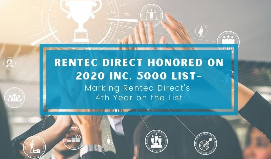 Rentec Direct Honored on 2020 Inc. 5000 list– Marking Rentec Direct's 4th Year on the List