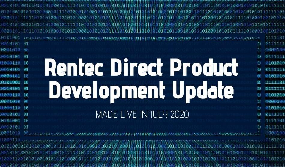Rentec July Product Updates