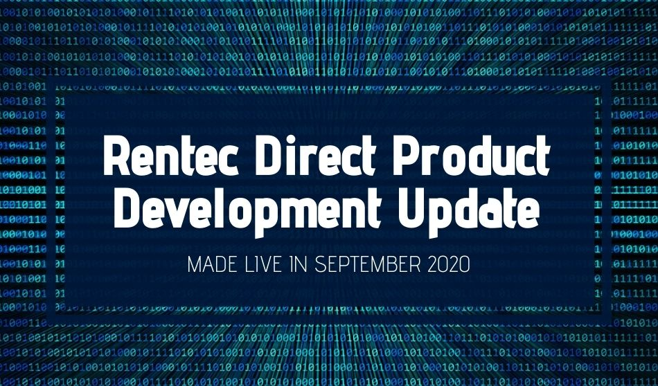 Rentec Direct Product Development Update: Made Live in September 2020