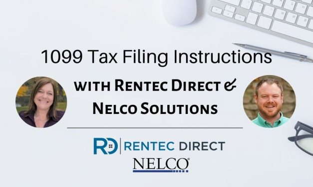 1099 Tax Filing Instructions Using Rentec Direct Property Management Software