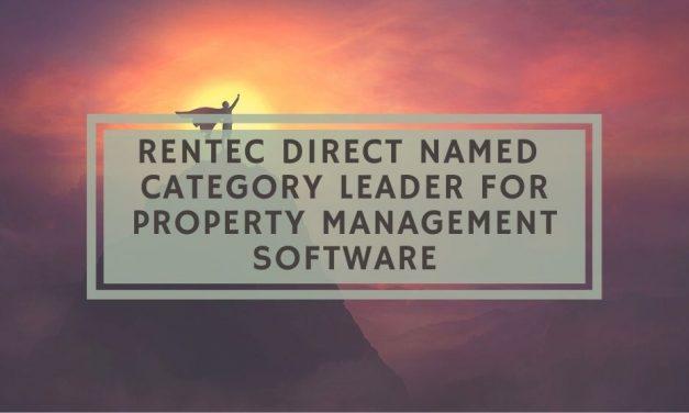 Rentec Direct Named Category Leader for Property Management Software