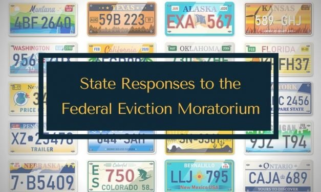 State Responses to the Eviction Ban Moratorium