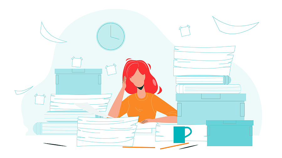 Cluttered and disorganized office causes stress and inefficiencies
